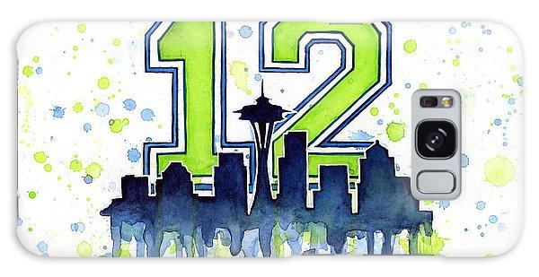 Men Galaxy Case - Seattle Seahawks 12th Man Art by Olga Shvartsur