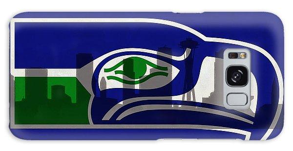 Seattle Seahawks On Seattle Skyline Galaxy Case