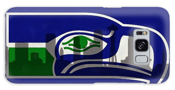 Seattle Skyline Galaxy S8 Case - Seattle Seahawks On Seattle Skyline by Dan Sproul