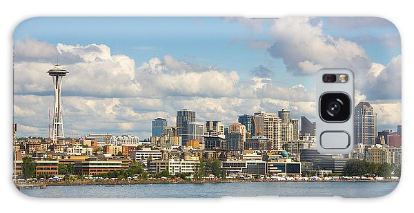 Seattle Skyline Galaxy Case by Janis Knight