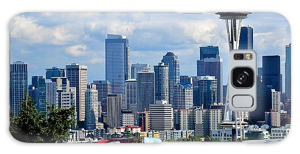 Seattle Skyline Panorama Galaxy Case by Ricardo J Ruiz de Porras