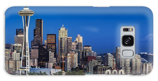 Seattle Skyline Panoramic Galaxy Case