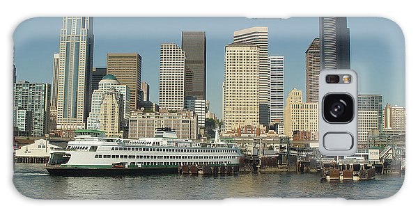 Seattle Waterfront Galaxy Case by John Bushnell