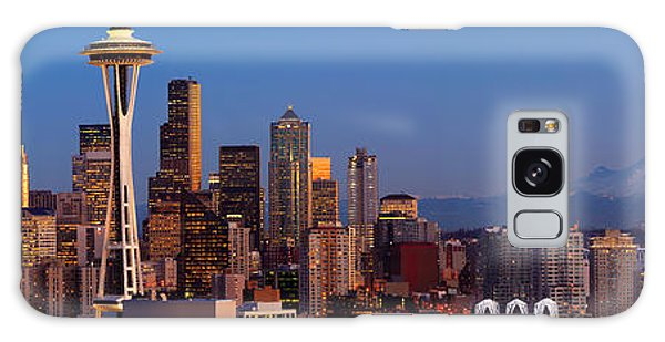 Seattle Winter Evening Panorama Galaxy Case