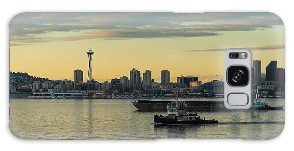 Seattle Skyline Galaxy S8 Case - Seattles Working Harbor by Mike Reid