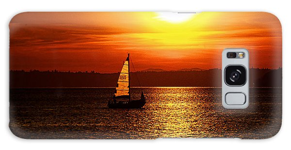 Seaview Sunset Galaxy Case by Jerry Cahill