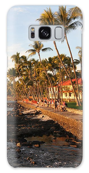 Seawall At Sunset Galaxy Case