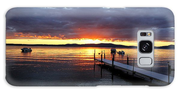 Sebago Lake Sunset Galaxy Case by Butch Lombardi