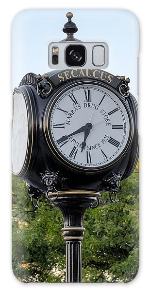 Galaxy Case featuring the photograph Secaucus Clock Marras Drugs by Susan Candelario