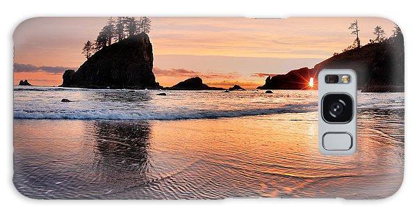 Second Beach Sunset Galaxy Case by Leland D Howard