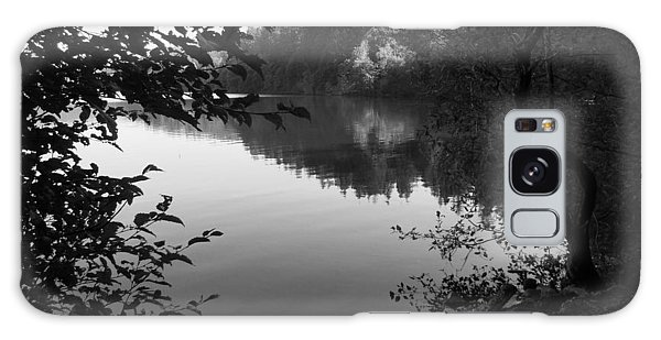 Second Lake Padden Reflection In Black And White  Galaxy Case