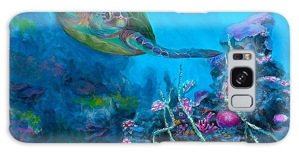 Secret Sanctuary - Hawaiian Green Sea Turtle And Reef Galaxy Case
