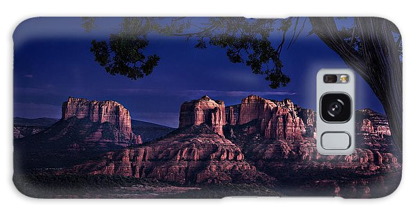 Sedona Cathedral Rock Post Sunset Glow Galaxy Case