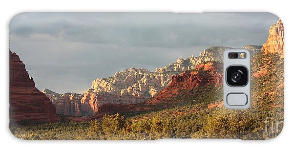 Desert Galaxy Case - Sedona Sunshine Panorama by Carol Groenen