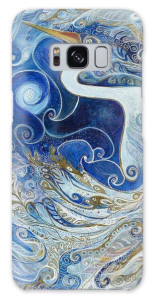 Seeking Balance Galaxy Case by Leela Payne