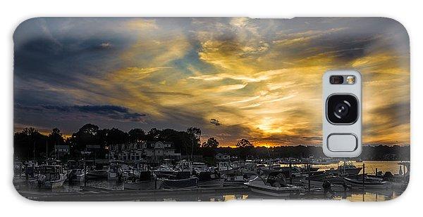 Selective Color Sunset - Mystic River Galaxy Case