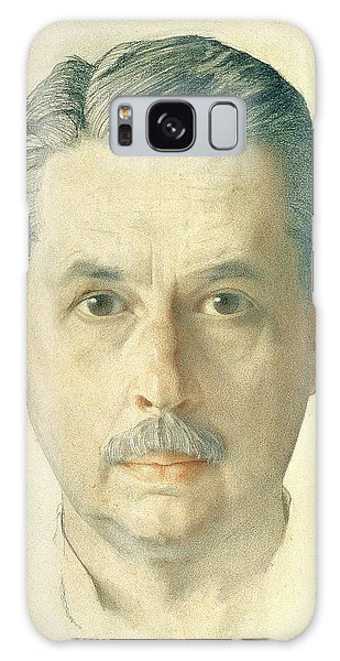 Moustache Galaxy Case - Self Portrait, 1921 Pencil On Paper by Konstantin Andreevic Somov