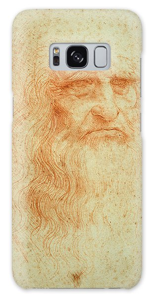 Pen And Ink Drawing Galaxy Case - Self Portrait by Leonardo da Vinci