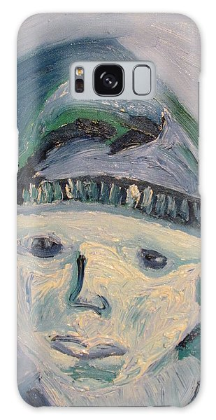 Self Portrait In Blue And Green Galaxy Case