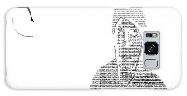 Self Portrait In Text Galaxy Case