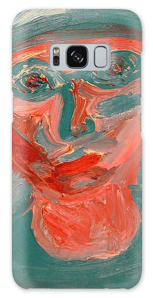 Self Portrait In Turquoise And Rose Galaxy Case