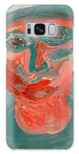Self Portrait In Turquoise And Rose Galaxy Case by Shea Holliman