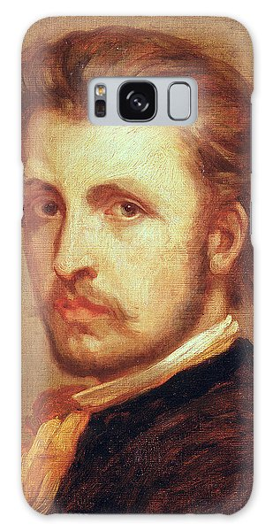 Moustache Galaxy Case - Self Portrait Oil On Canvas by Thomas Couture