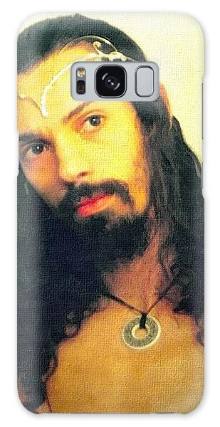 Galaxy Case featuring the mixed media Self Portrait The Elven King Jesus by Shawn Dall