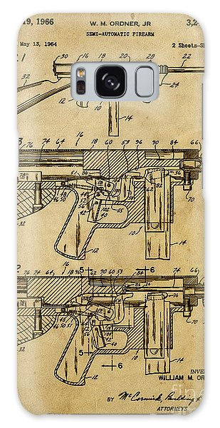 Semis Galaxy Case - Semi-automatic Firearm - Patented On 1964  by Drawspots Illustrations