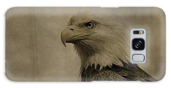 Sepia Bald Eagle Portrait Galaxy Case