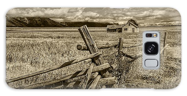 Sepia Colored Photo Of A Wood Fence By The John Moulton Farm Galaxy Case