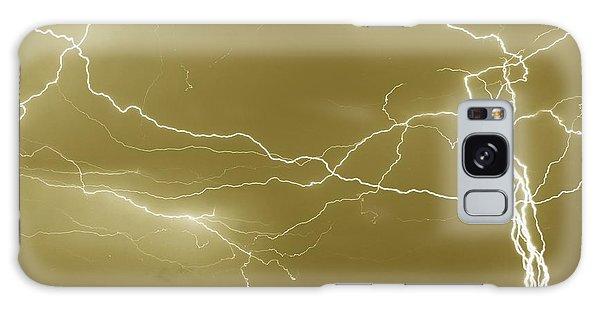 Sepia Converging Lightning Galaxy Case