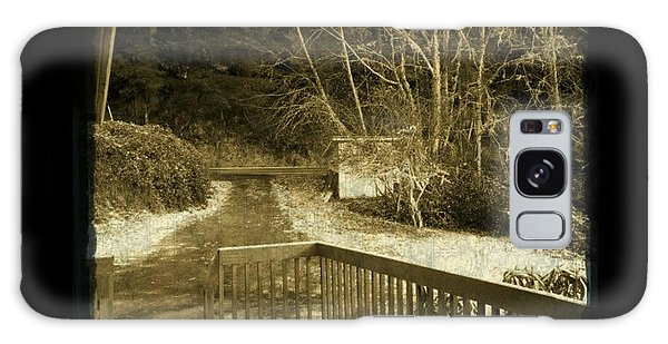 Sepia - Country Road First Snow Galaxy Case by Absinthe Art By Michelle LeAnn Scott