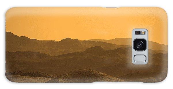 Sepia Mountains Galaxy Case