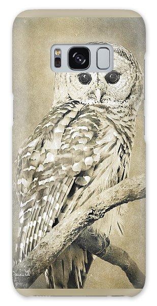 Sepia Owl Galaxy Case