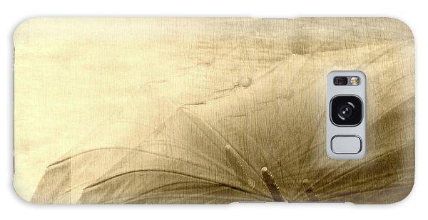 Sepia Umbrella Impressions In The Rain Galaxy Case