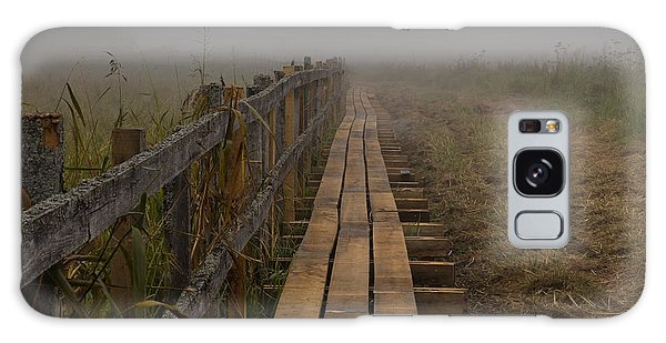Galaxy Case featuring the photograph September Mist Hdr - Foggy Day Over Walk Way by Leif Sohlman