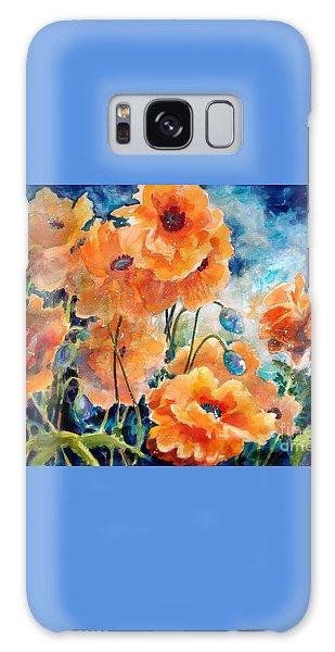 September Orange Poppies            Galaxy Case by Kathy Braud