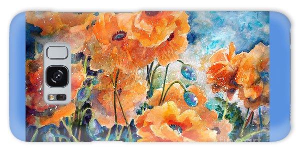 September Orange Poppies            Galaxy Case