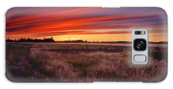 September Sunset North Pole Alaska Galaxy Case by Michael Rogers
