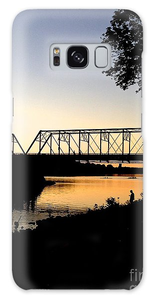 September Sunset On The River Galaxy Case