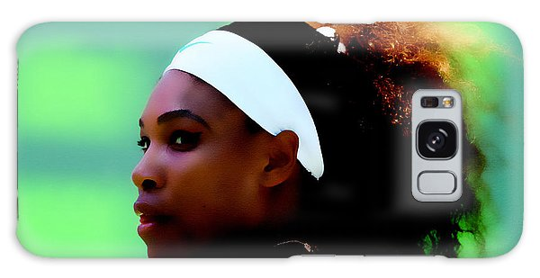 Serena Williams Match Point Galaxy Case by Brian Reaves