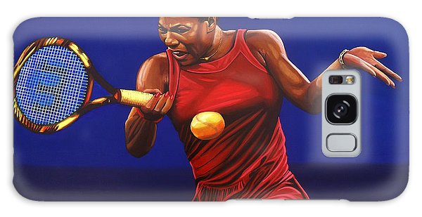Serena Williams Painting Galaxy Case by Paul Meijering