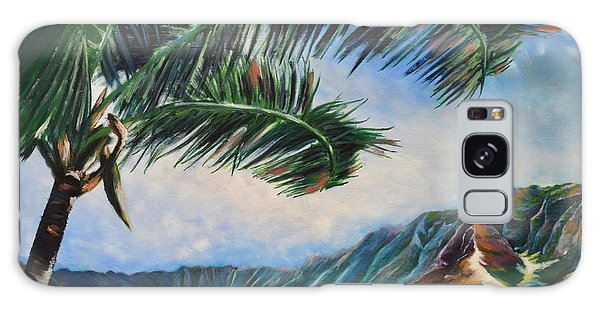 Serene Beauty Of Makua Valley Galaxy Case