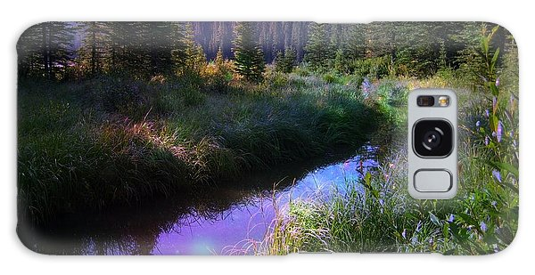 Serene Mountain Moment Galaxy Case by Shirley Sirois