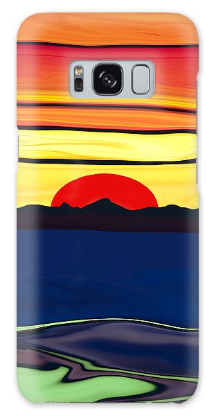 Serenity Lake Sunset Galaxy Case by Haleh Mahbod