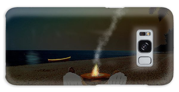Serenity On The Beach Galaxy Case