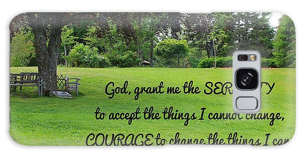 Serenity Prayer And Park Bench Galaxy Case