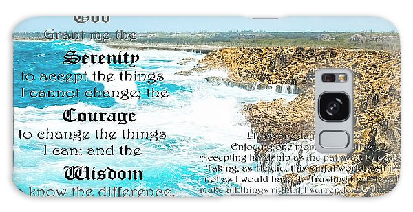 Serenity Prayer For Turbulent Times Galaxy Case
