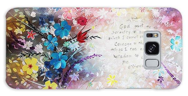 Serenity Prayer Galaxy Case by Patricia Lintner